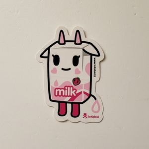 4/$15 Tokidoki Strawberry Milk Sticker